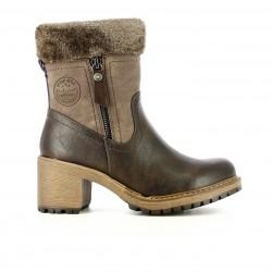 botins de taló REFRESH FOOTWEAR marrons amb pèl - Querol online