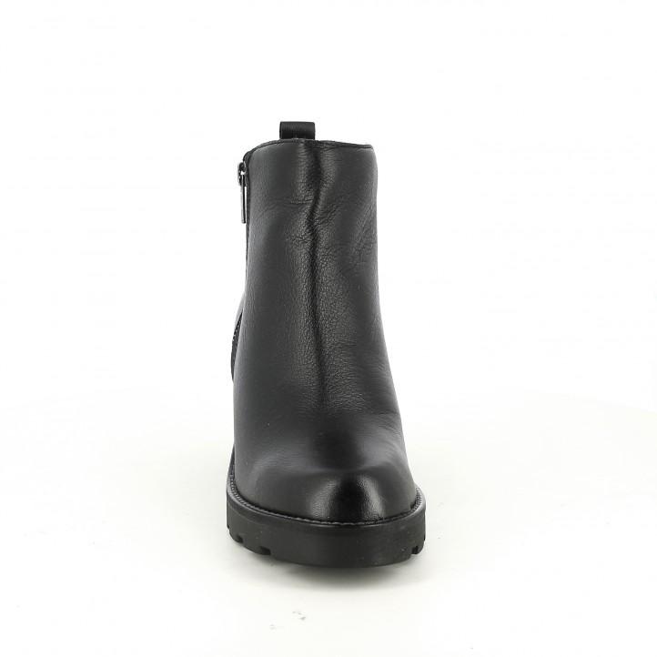 botins de taló REDLOVE negres de pell llisa - Querol online