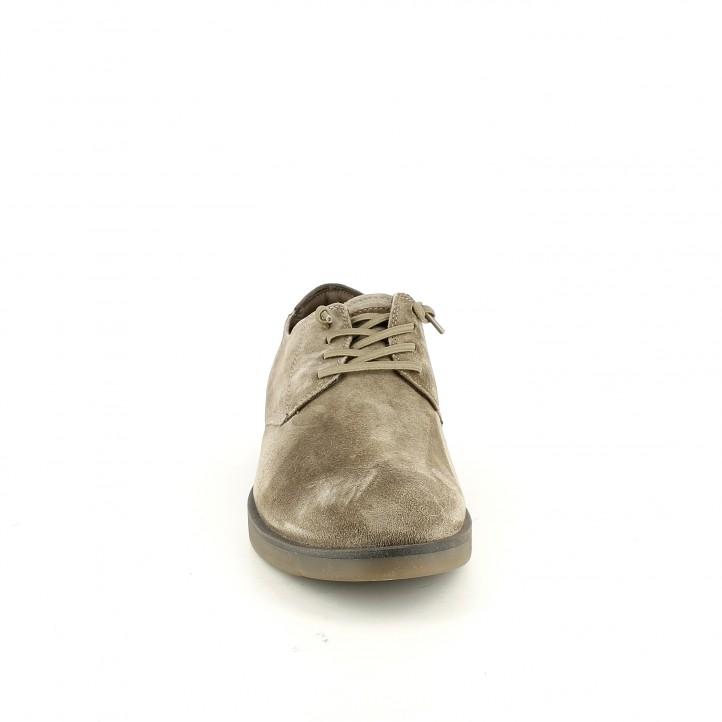 zapatos sport CETTI marrones de piel con cordones elásticos - Querol online