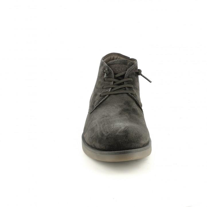 botins CETTI marrons de pell amb cordons elàstics - Querol online