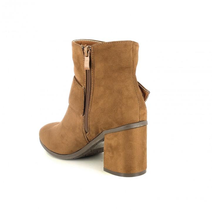 botins de taló YOU TOO marrons amb sivella gegant - Querol online