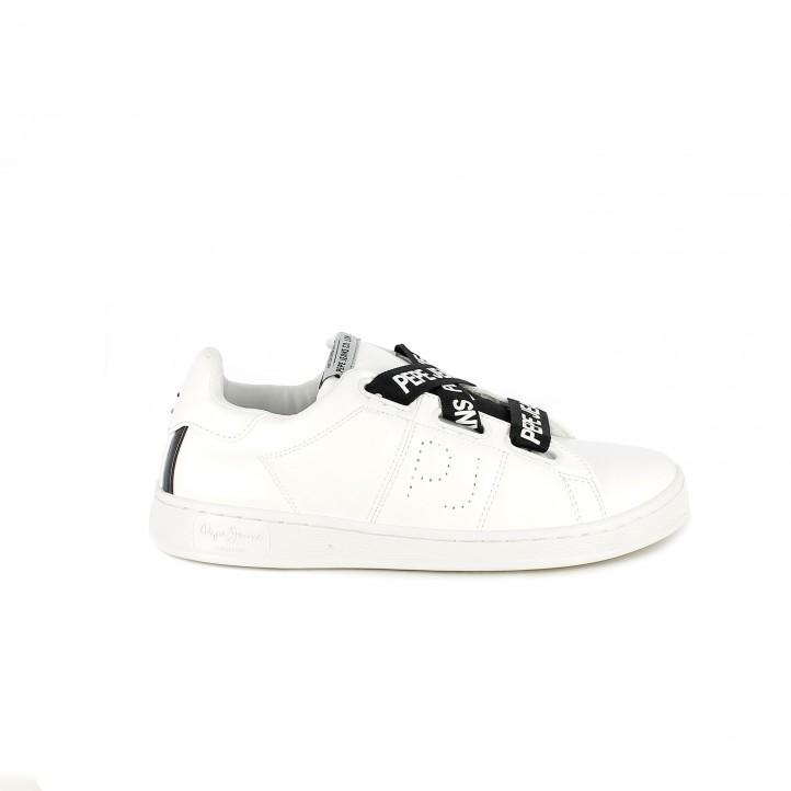 43932c022c88a zapatillas deportivas PEPE JEANS blancas y negras con cordones - Querol  online ...