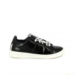 zapatillas deportivas PEPE JEANS negras y blancas con cordones - Querol online