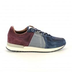 zapatillas deportivas PEPE JEANS burdeos, grises y azules - Querol online