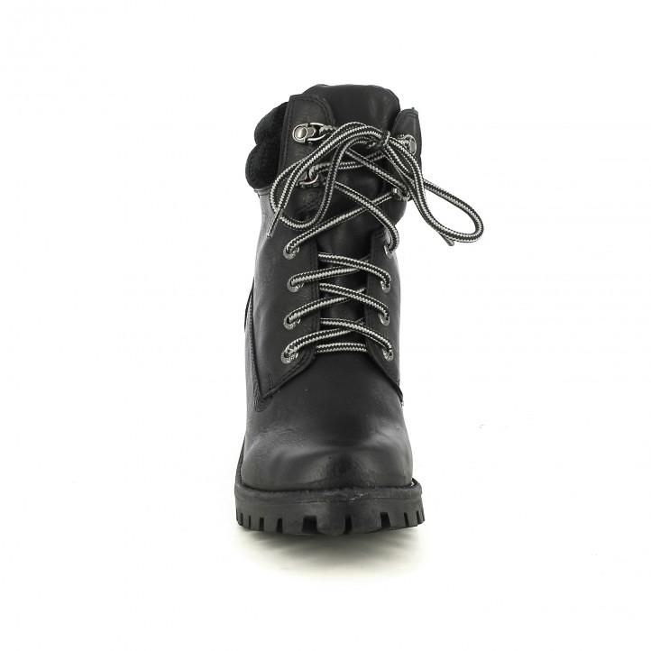 botines tacón OWEL negros montaña con cordones - Querol online