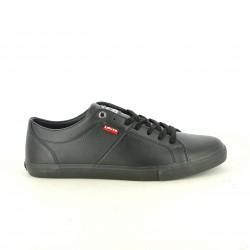 zapatos sport LEVIS negros sintéticos con cordones - Querol online