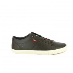 sabates sport LEVIS marrons sintètiques amb cordons - Querol online