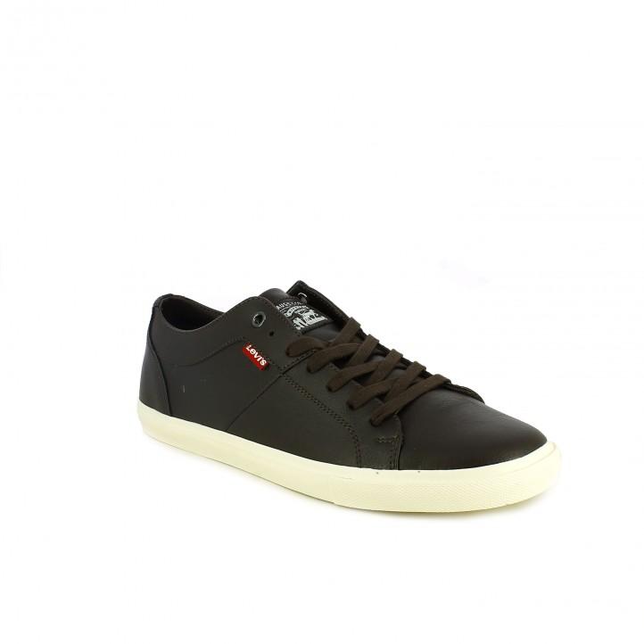 zapatos sport LEVIS marrones sintéticos con cordones - Querol online