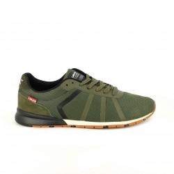 zapatos sport LEVIS verdes con rayas - Querol online