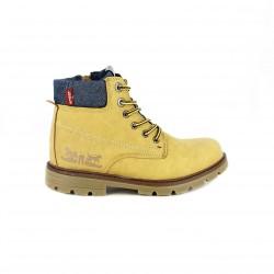 botines LEVIS marrones con cordones amarillos - Querol online