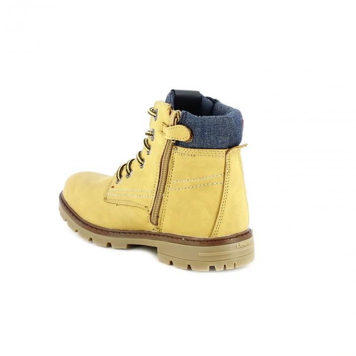 botins LEVIS marrons amb cordons grocs - Querol online