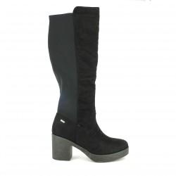 botas tacón Mustang negras elásticas - Querol online