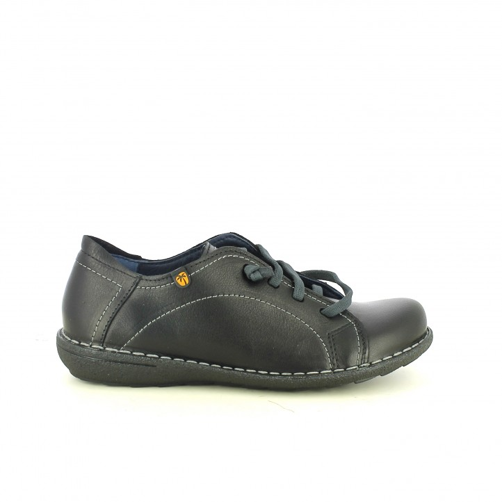 zapatos planos JUNGLA negros cerrados - Querol online