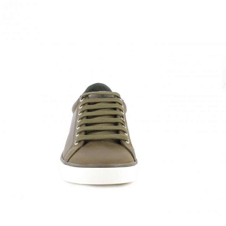 sabates sport GIOSEPPO marrons i blanques - Querol online