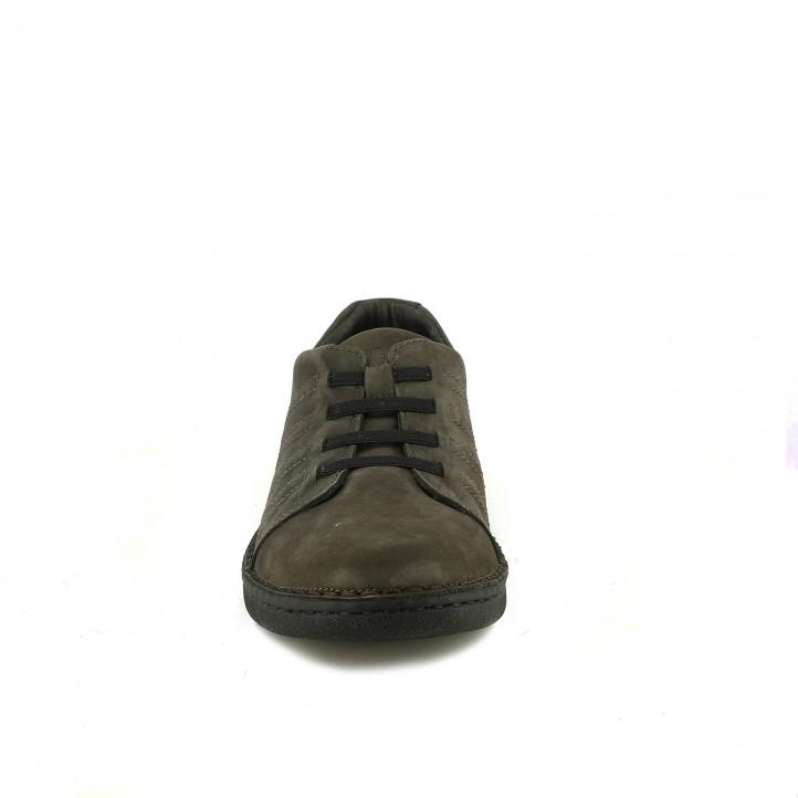 zapatos sport ZEN marrones con cordones elásticos - Querol online
