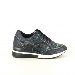 zapatillas deportivas D'ANGELA azules estampadas - Querol online