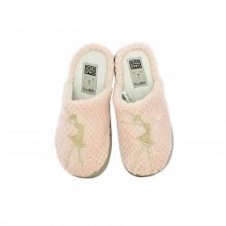 zapatillas casa GIOSEPPO rosas con bailarinas doradas - Querol online