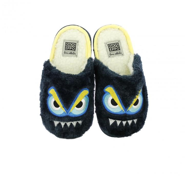 zapatillas casa GIOSEPPO monstruo azul - Querol online