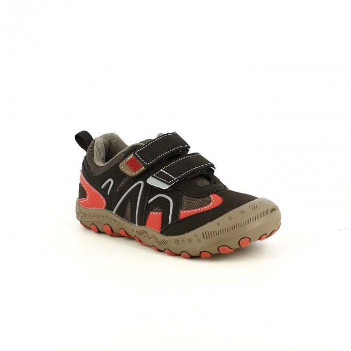 sabates GIOSEPPO marrons i vermelles sport - Querol online
