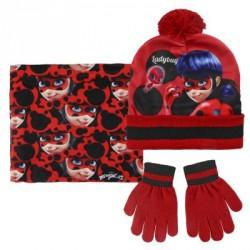 complementos ARTESANIA CERDA pack guantes, gorro y braga polar ladybug - Querol online