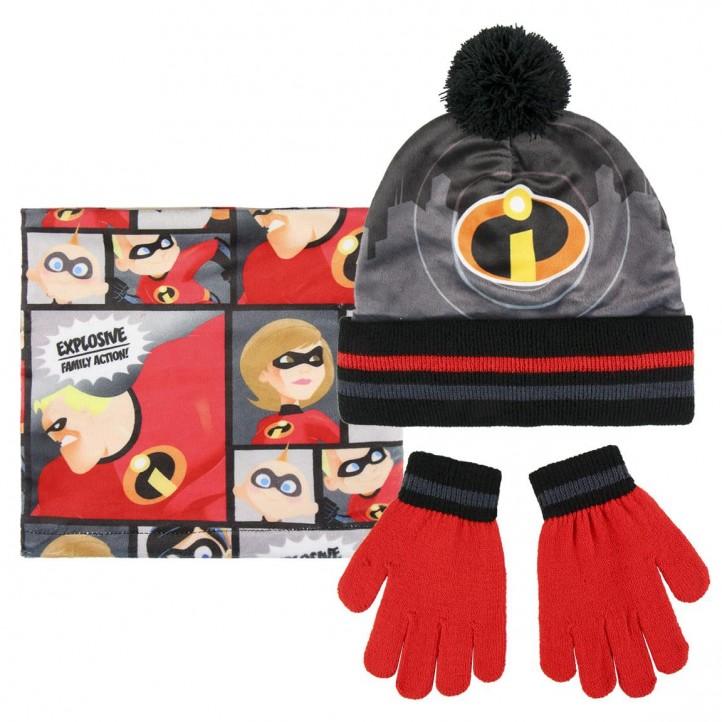 complementos ARTESANIA CERDA pack braga polar, guantes y gorro los increibles - Querol online