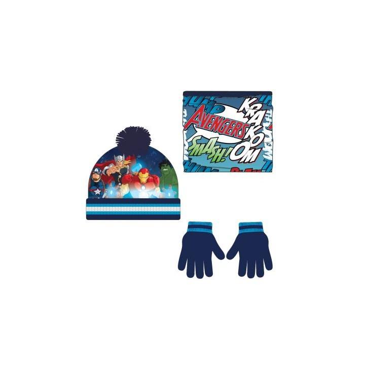 complementos ARTESANIA CERDA pack braga polar, guantes y gorro los vengadores - Querol online
