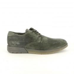 sabates sport CETTI caquis de pell amb cordons elàstics - Querol online