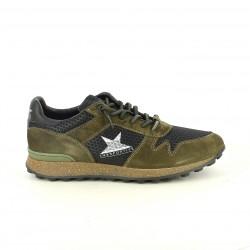 zapatos sport CETTI verdes y marrones de piel - Querol online