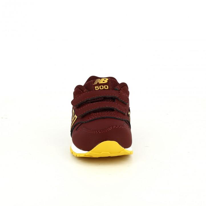 zapatillas deporte NEW BALANCE 500 burdeos y naranjas - Querol online