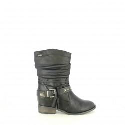 botas tacón Mustang negras con borlas o hebillas - Querol online