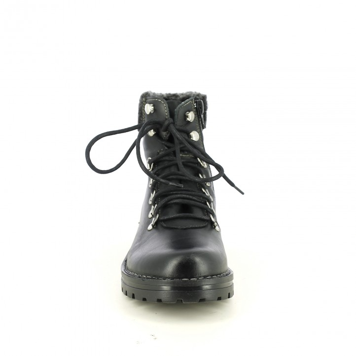 botins de taló REDLOVE negres de pell amb pèl - Querol online