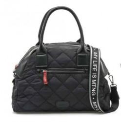 complementos Mustang bolso negro de lona acolchado - Querol online