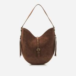 complementos Mustang maxi bolso marrón con flecos - Querol online