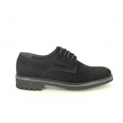zapatos vestir LOBO bluchers negros de serraje - Querol online