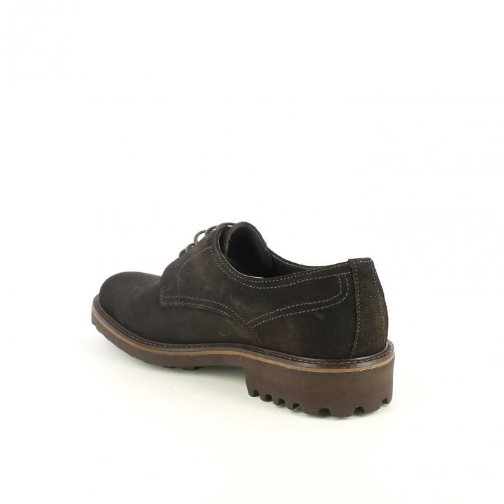 sabates vestir LOBO bluchers marrons de serratge - Querol online