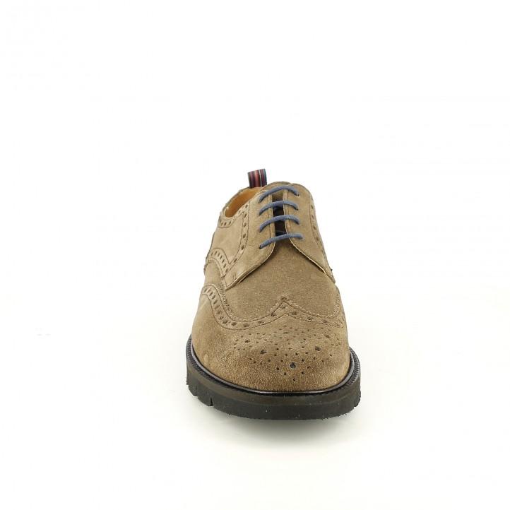 sabates vestir LOBO bluchers marrons de serratge amb brogue - Querol online