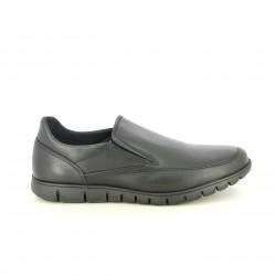 zapatos sport T2IN mocasines negros piel - Querol online