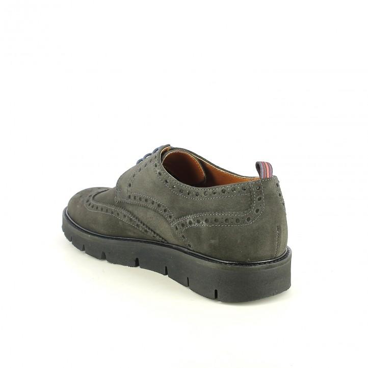 sabates vestir LOBO bluchers grisos de serratge - Querol online