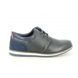 sabates sport VICMART negres i blaves de pell - Querol online