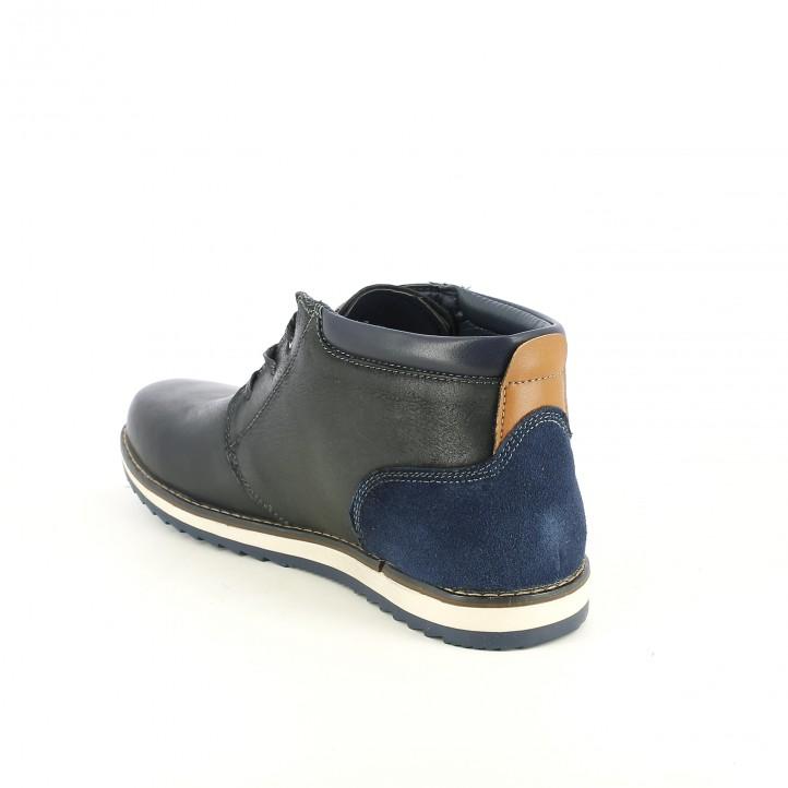 botines VICMART negros y azules de piel - Querol online