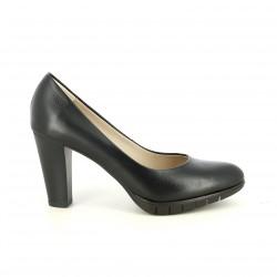 sabates de taló WONDERS negres clàssiques de pell - Querol online