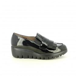 sabates de falca WONDERS negres de xarol - Querol online