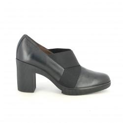 sabates de taló WONDERS negres de pell amb gomes - Querol online