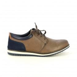 sabates sport VICMART marrons i blaves de pell - Querol online