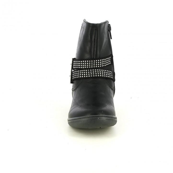 botines QUETS! negros con tachuelas redondas - Querol online