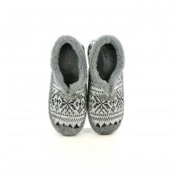 zapatillas casa GARZON grises afelpadas - Querol online