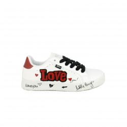 zapatillas deporte XTI blancas y rojas love - Querol online