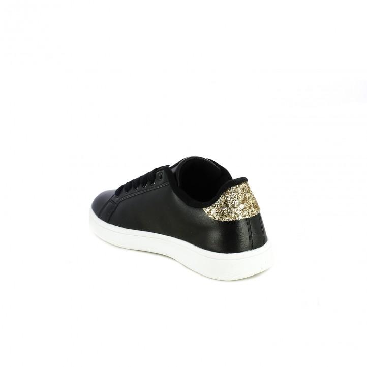 zapatillas deporte XTI negras con glitter - Querol online