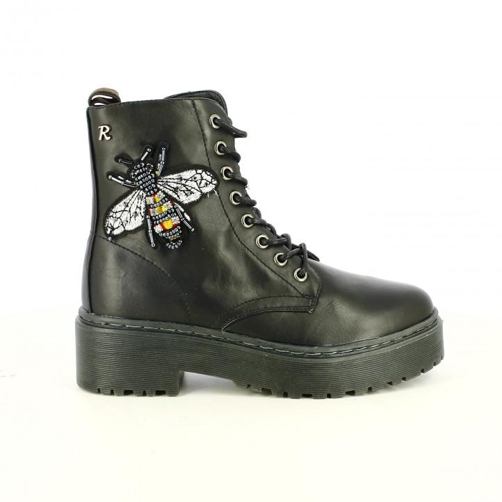botines tacón REFRESH FOOTWEAR negros con abeja - Querol online