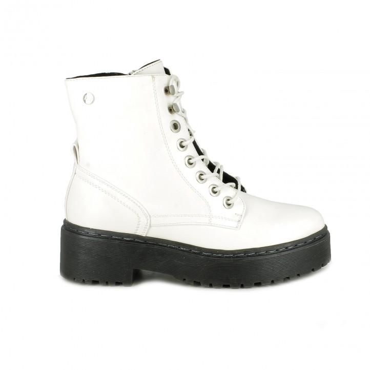 botins de taló XTI blancs amb cordons - Querol online